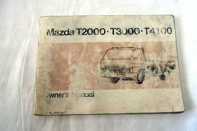 Mazda T2000 - T3000 - T4100 Owners Manual
