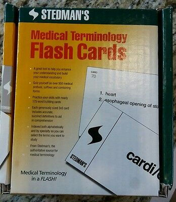 Stedman's Medical Terminology Flash Cards  Used Great Condition.
