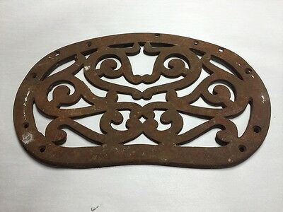 Vintage 50's/60's Wrought/Cast Iron~Bench/Seat