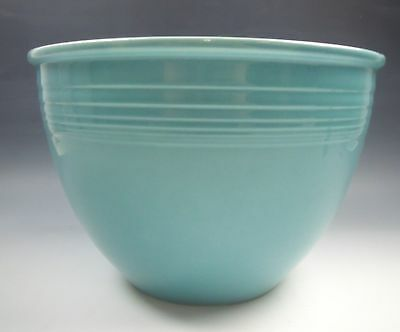 """Homer Laughlin Pottery FIESTA TURQUOISE 9"""" Nesting Mixing Bowl EXCELLENT"""
