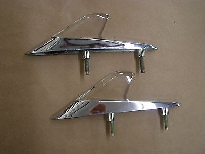 NOS OEM Ford 1960 Falcon Fender Ornaments Spears Guides Emblems
