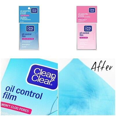 Clean & Clear Oil Control Film Blotting Paper,Oil-absorbing Sheets for Face