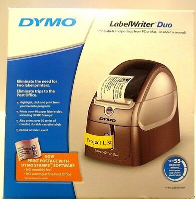 BRAND NEW Dymo LabelWriter Duo Label Thermal Printer - 55 Labels / Min