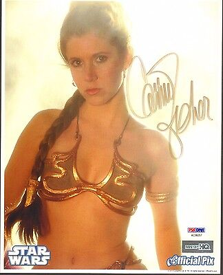 "CARRIE FISHER Signed STAR WARS ""Princess Leia"" 8x10 Photo PSA/DNA #AC96057"