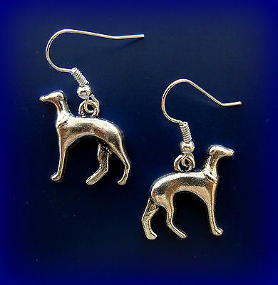 Earrings: GREYHOUND Dog Jewelry - Vintage ANTIQUE Art Deco style Dog Jewelry