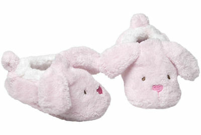 Pink Rabbit/Bunny 6-12m Soft Bootie Slippers Baby Shoes w/Padded Sock Sole