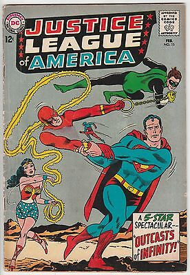 Justice League Of America #25,solid Copy,superman,outcast Of Infinity!