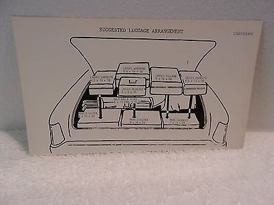 Ford 1963 Lincoln Luggage Arrangment Decal
