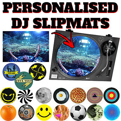 Personalised DJ Record Turntable Scratch Slipmats vinyl disc jockey slip mat