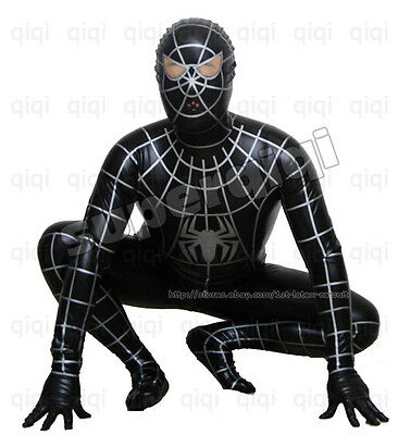 Latex/Rubber 0.8mm Spiderman catsuit suit uniform black