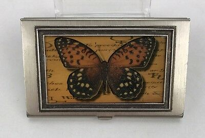 Butterfly Design Metal Card Case