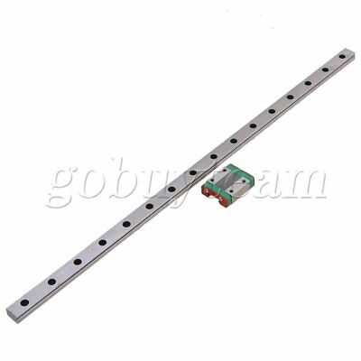 2Piece 400MM MGN12 Guide Linear Sliding Rail and Block for Linear Sliding Device