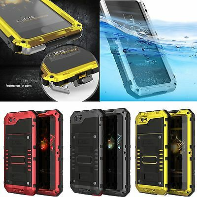 Waterproof Shockproof Aluminum Gorilla Glass Metal Case Cover For iPhone 7 7+ 6S