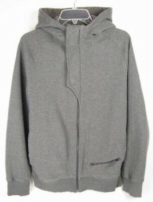 LULULEMON ATHLETICA Mens Gray Cotton ZIP UP HOODIE JACKET/ Sweater size LARGE