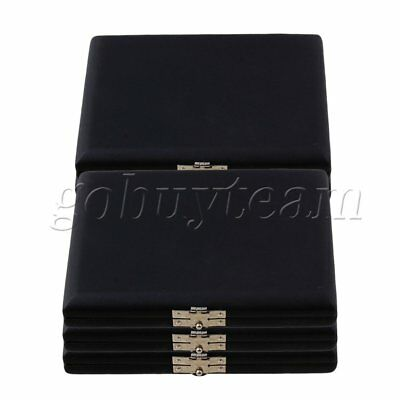 12x9x2cm Black PU Leather Saxophone Sax Reed Case for 6 Reeds Pack of 5