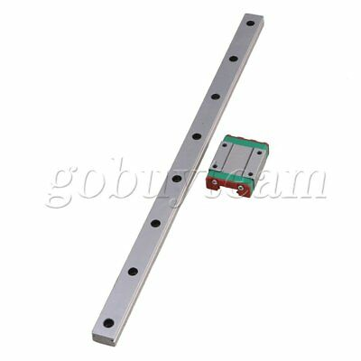 Silver 300mm MGN15 Linear Bearing Slide Rail MGN15C Sliding Block set