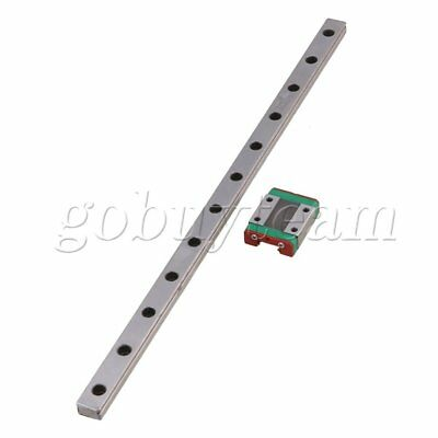 2pcs 30CM MGN12 Guide Rail Sliding Rail with Block for Precise Measure Equipment
