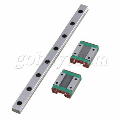 3PCS 200MM MGN12 Guide Linear Sliding Rails and Block for Linear Sliding Device