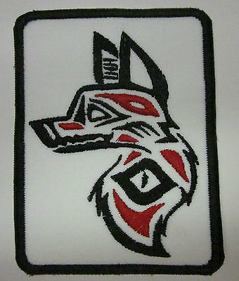 Wolf Inuit Art Style Iron or Sew on Patch