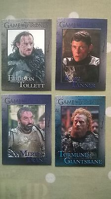 Game of Thrones Trading Cards.  Set A.