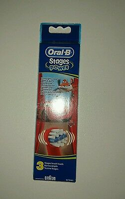 Braun Oral-B 3 Brossettes Stages Kids Power Cars / Planes Disney