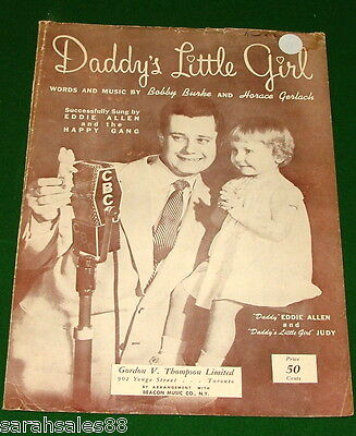 Daddy's Little Girl, 1949 Sheet Music, Eddie Allen on Canada Cover, No Tape