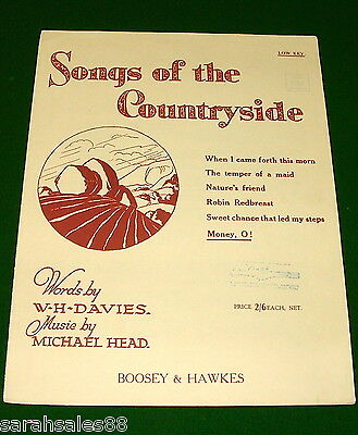 MONEY, O! 1929 Sheet Music, SONGS OF THE COUNTRYSIDE, Printed in England, RARE