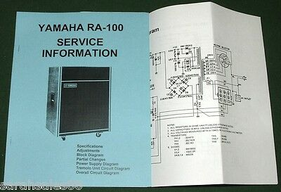 Service Information Manual for YAMAHA RA-100 Combo Amplifier w- Amp Schematic