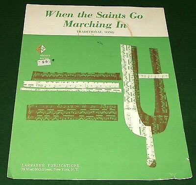 When the Saints Go Marching In, 1963 Sheet Music, Encore Series, No Tape