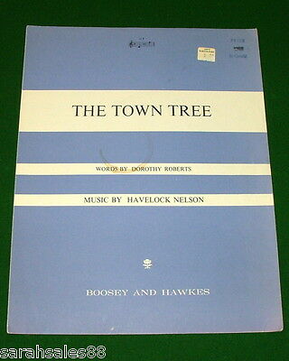 THE TOWN TREE, 1967 Vintage Sheet Music, Printed in ENGLAND, Sold in CANADA
