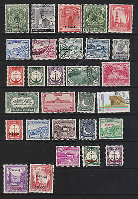 Pakistan selection - 29 stamps mint and used mixture.