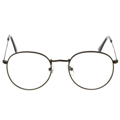 Hot Vintage Men Women Eyeglass Frame Glasses Round Spectacles Clear Lens Optical
