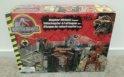 Jurassic Park lll Raptor Attack Playset. VINTAGE BOXED COMPLETE