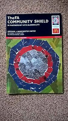 Manchester United V Arsenal Charity Shield 2003 Programme Signed / Ticket Stubs