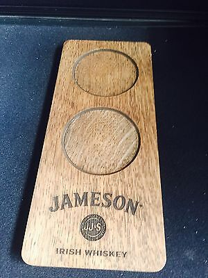 Jameson's wooden glasses  holder tray home bar pub man cave