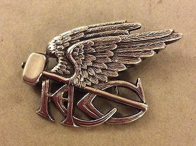 Unknown Victorian Cycling Club 1896-97 Silver Badge Winged Hammer Hcc