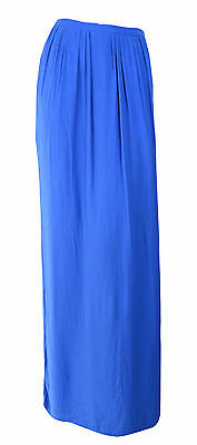 Forever New Blue Maxi Skirt with Side Splits Size 14