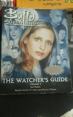 buffy the vampire slayer the watchers guide book volume 3