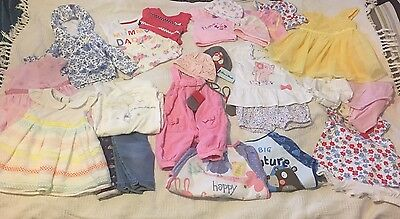 Baby girl clothes 0-3 Months bulk buy Dresses Outfits Disney & More 28 Items