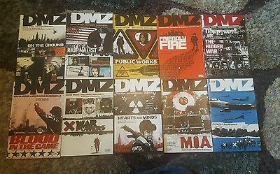 DMZ - Paperback Graphic Novel -  Volumes 1-10 - Brian Wood