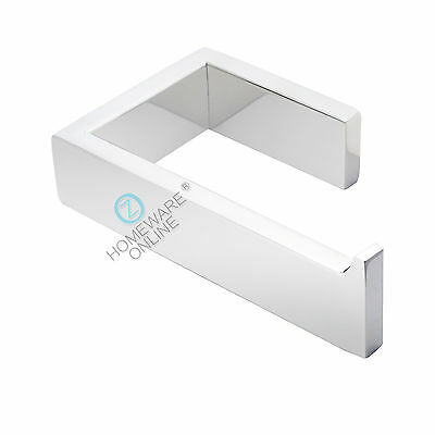 Toilet Paper Roll Holder Hook Chrome Hanger Bathroom Accessories Wall Mount NEW