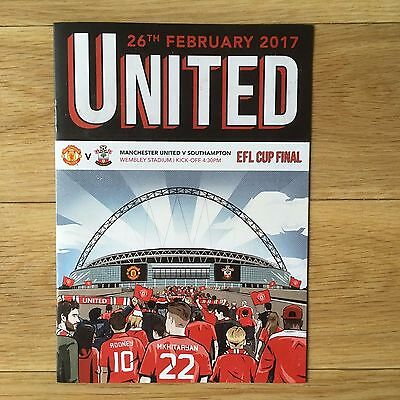 MANCHESTER UNITED v Southampton EFL Cup Final Official Comic + BAG - NEW  unused