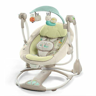 SWINGING BOUNCER BRIGHT STARTS Ingenuity Rocker Swing Vibrating LADYBIRDS