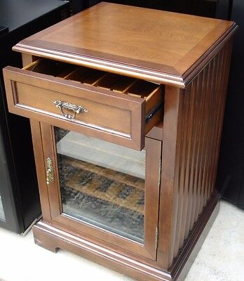 Wine Fridge - Wooden Cabinet