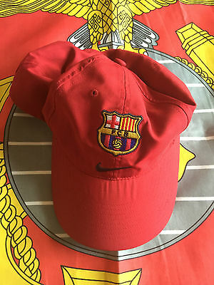 Pre-owned Nike Official Barcelona FCB Soccer Cap. Adjustable Size