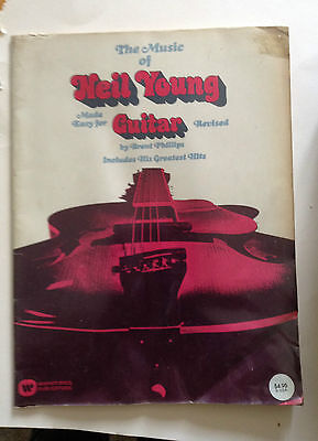 Livre Partition Pathe Music Of Neil Young Guitar 1970