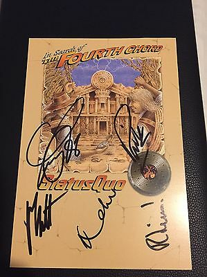 Status Quo Hand Signed Fourth Chord Promo Card