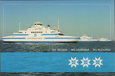 Ship Postcard - Estonian Saaremaa Shipping Company Three Ships In Mint Condition