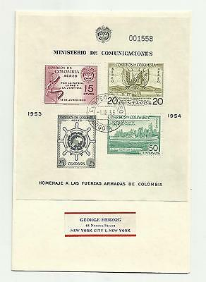 Colombia 1954 m/s used on airmail cover lot 3