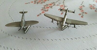 Royal Hampshire Lancaster & Spitfire Pewter  Airplanes Unboxed.